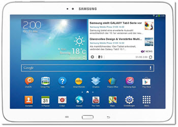 Samsung Tablet als Geschenk