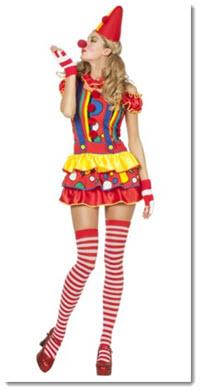Sexy Clown Faschingskostüm für Frauen